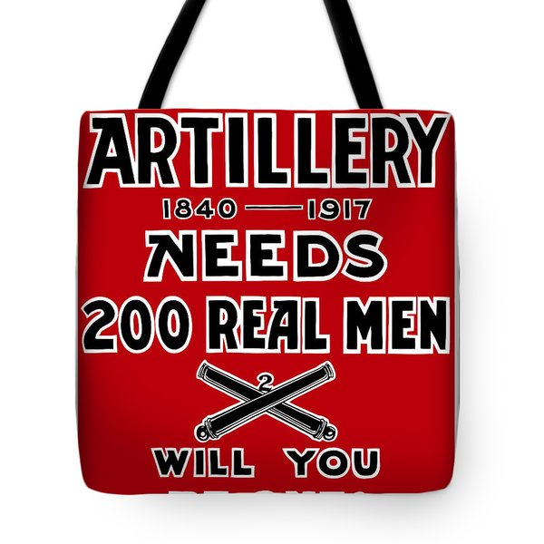 The Second Artillery Needs 200 Real Men Tote Bag by War Is Hell Store