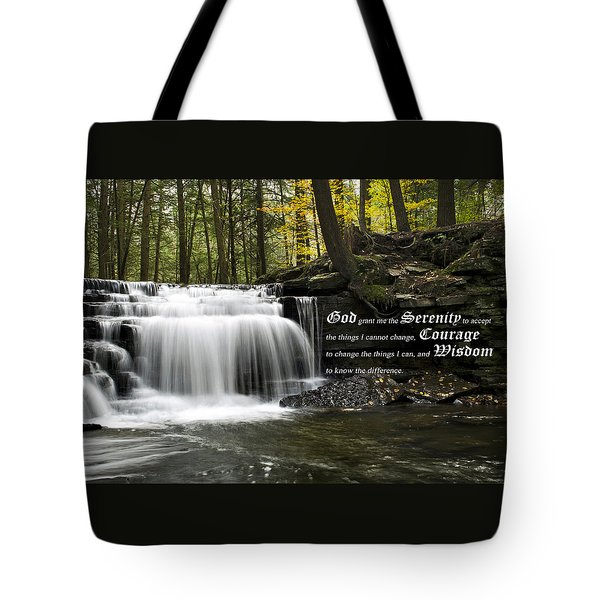 The Serenity Prayer Tote Bag by Christina Rollo