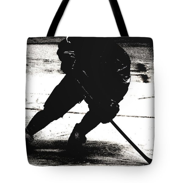 The Shadows Of Hockey Tote Bag by Karol Livote