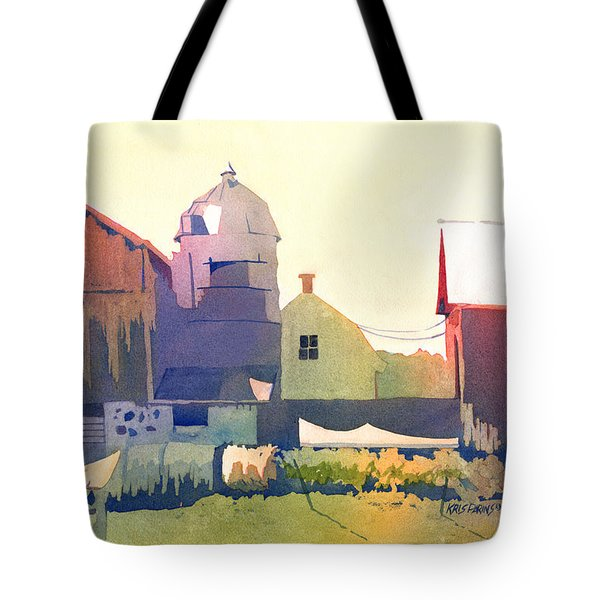 The Side of a Barn Tote Bag by Kris Parins