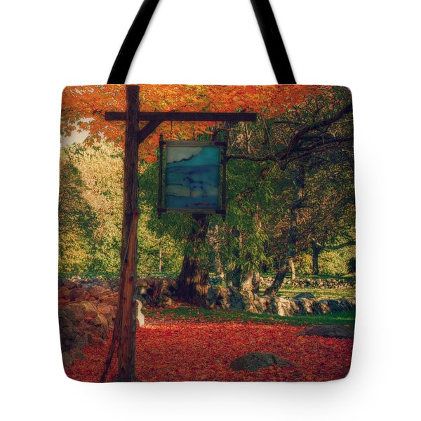 the sign of fall colors Tote Bag by Jeff Folger