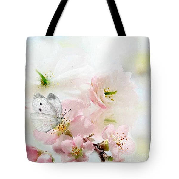 The Silent World Of A Butterfly Tote Bag by Morag Bates