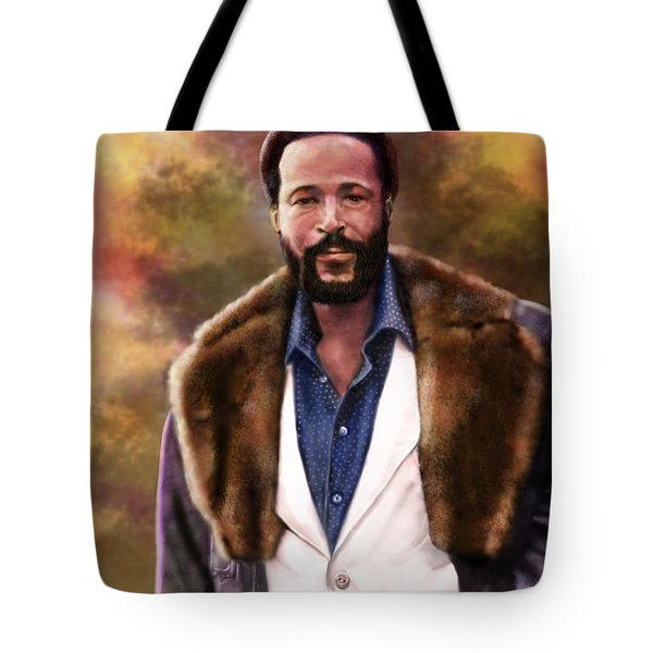 The Silky Silky Soul Singer - Marvin Gaye  Tote Bag by Reggie Duffie