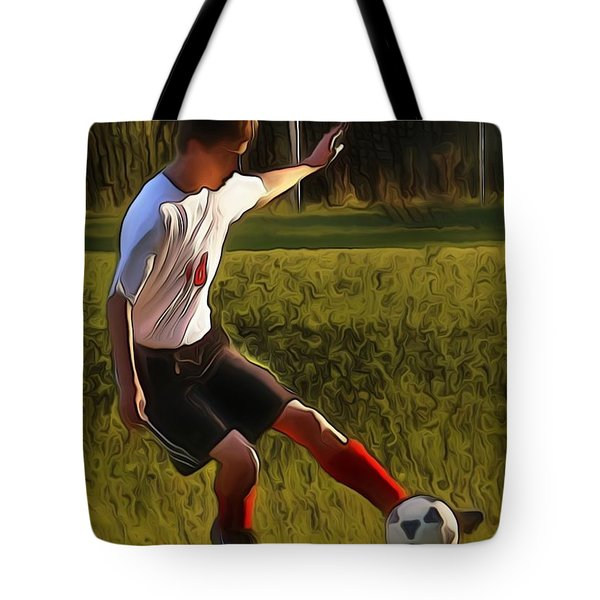 The Soccer Player Tote Bag by Dan Stone
