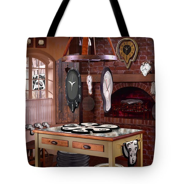 The Soft Clock Shop 3 Tote Bag by Mike McGlothlen