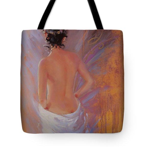 The Spa Tote Bag by Laura Lee Zanghetti