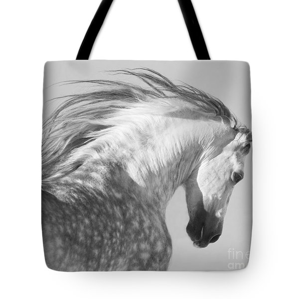 The Spanish Stallion Tosses His Head Tote Bag by Carol Walker