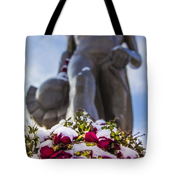 The Spartan With Roses 2 Tote Bag by John McGraw