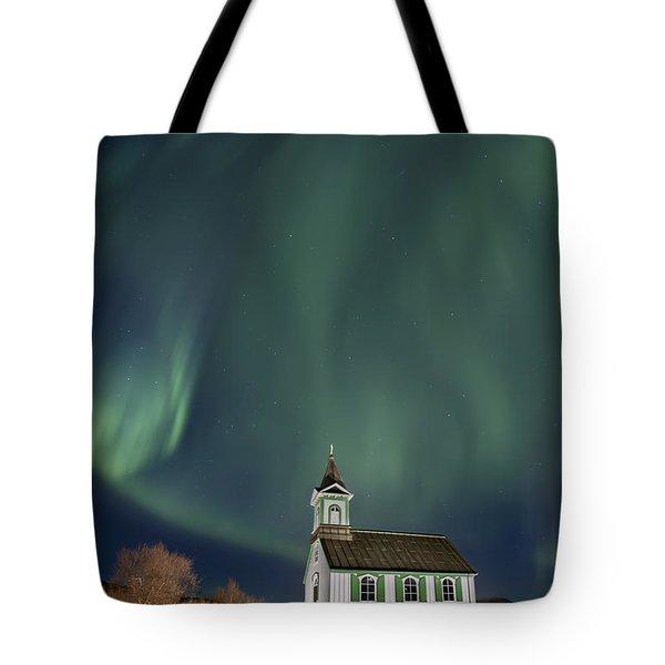 The Spirit of Iceland Tote Bag by Evelina Kremsdorf