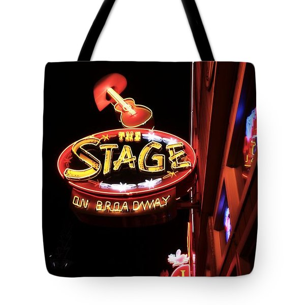 The Stage On Broadway In Nashville Tote Bag by Dan Sproul