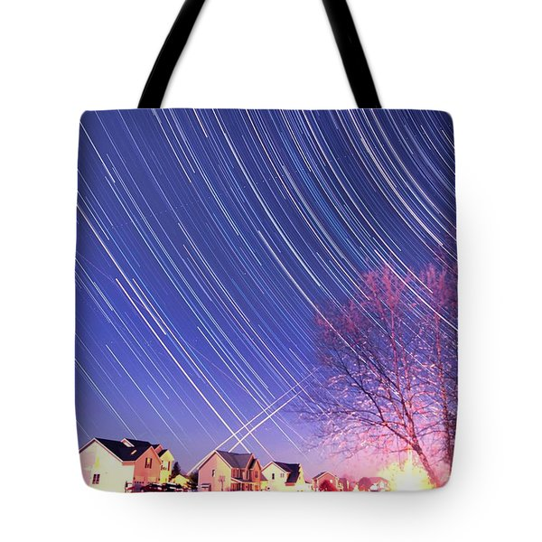 The Star Trails Tote Bag by Paul Ge
