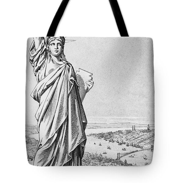 The Statue Of Liberty New York Tote Bag by American School