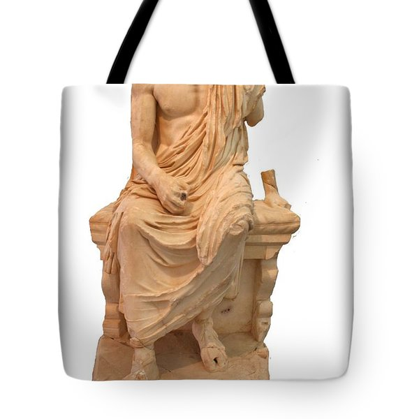 The Statue Of The Unidentified Philosopher Tote Bag by Tracey Harrington-Simpson