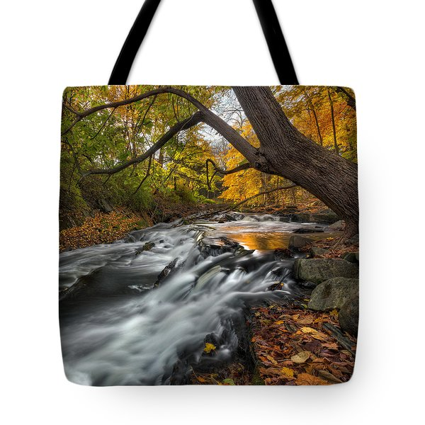 The Still River Square Tote Bag by Bill  Wakeley
