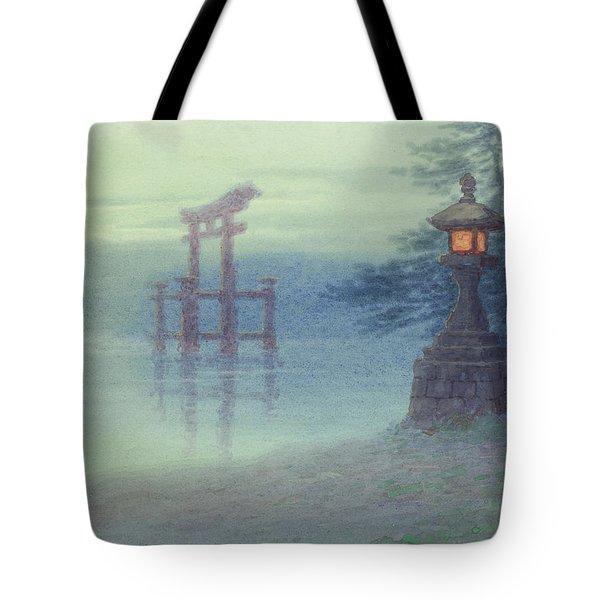 The Stone Lantern Cira 1880 Tote Bag by Aged Pixel