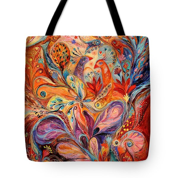 The Story Of Wild Iris Tote Bag by Elena Kotliarker