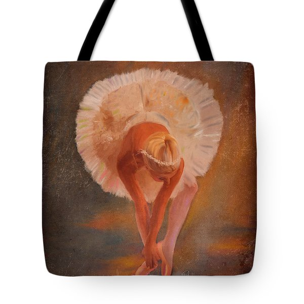 The Swan Warming Up Tote Bag by Angela A Stanton