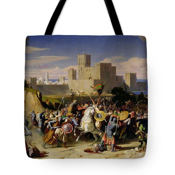 The Taking Of Beirut By The Crusaders Tote Bag by Alexandre Jean Baptiste Hesse