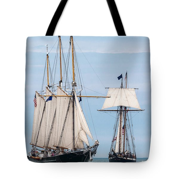 The Tall Ships Tote Bag by Dale Kincaid