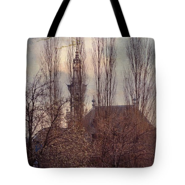 The Temple Bell Dies Away 2. Pink Spring In Amsterdam Tote Bag by Jenny Rainbow