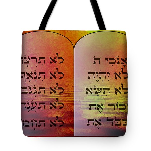 The Ten Commandments - Featured In Comfortable Art Group Tote Bag by EricaMaxine  Price