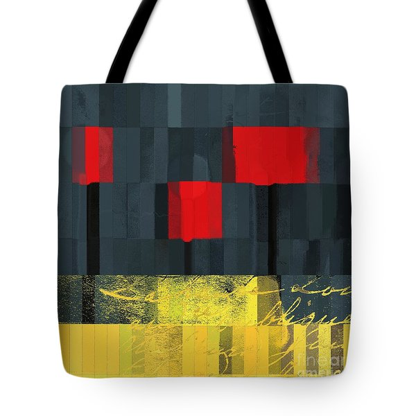 The Three Trees - j021580118  Tote Bag by Variance Collections