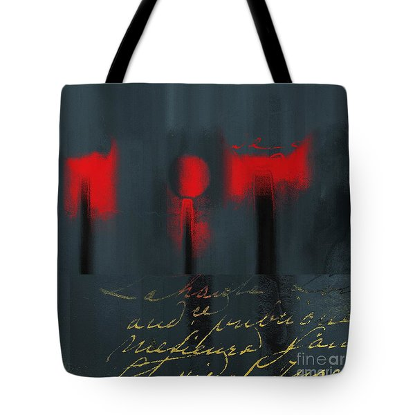 The Three Trees - J22206237a Tote Bag by Variance Collections
