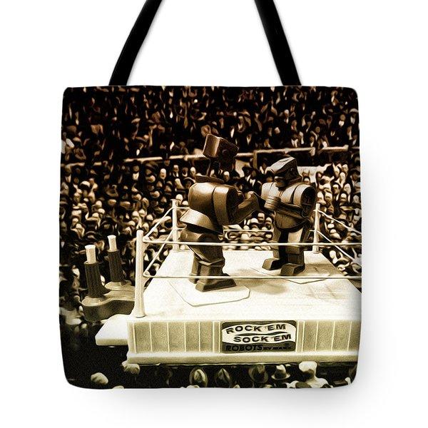 The Thrilla In Toyvilla Tote Bag by Bill Cannon