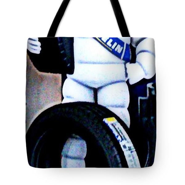 The Tire Man Tote Bag by Pamela Hyde Wilson