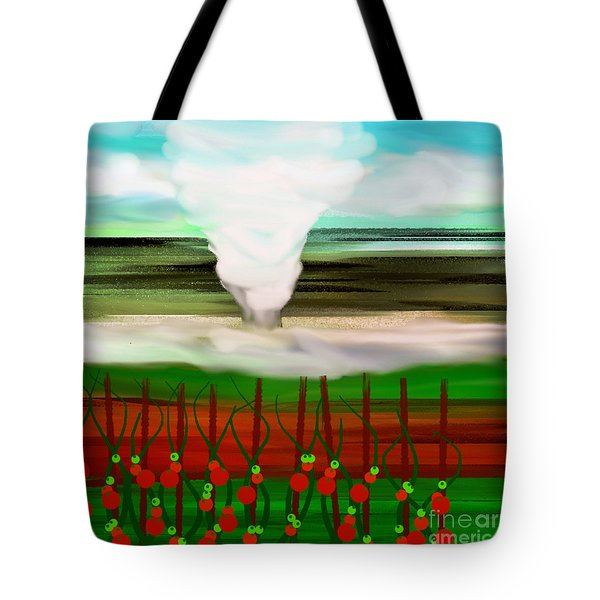 The Tomatoes And The Tornado Tote Bag by Andee Design