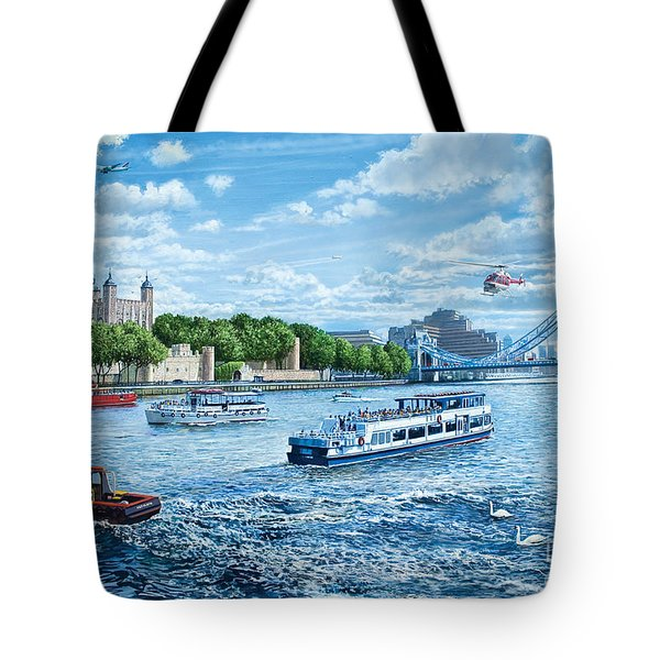 The Tower Of London Tote Bag by Steve Crisp