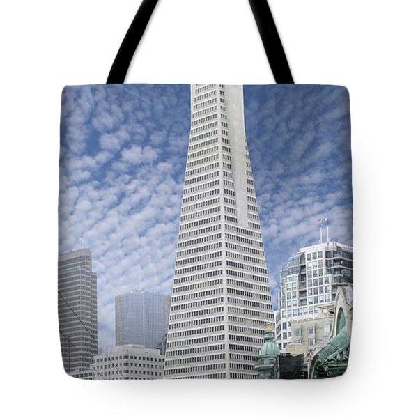 The Transamerica Pyramid - San Francisco Tote Bag by Mike McGlothlen