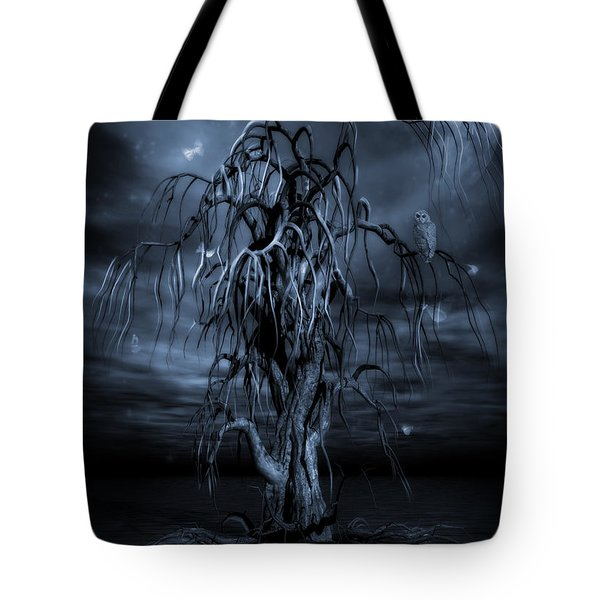 The Tree Of Sawols Cyanotype Tote Bag by John Edwards
