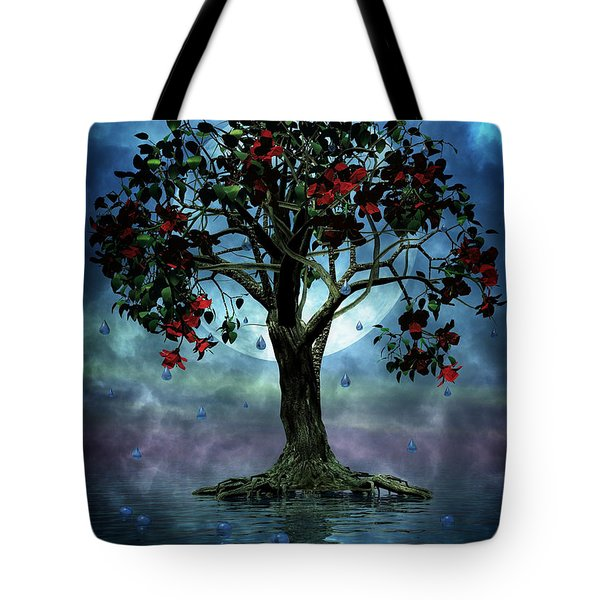 The Tree That Wept A Lake Of Tears Tote Bag by John Edwards