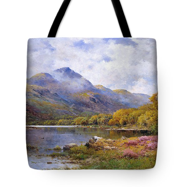 The Trossachs Ben  Tote Bag by Alfred de Breanski Jr