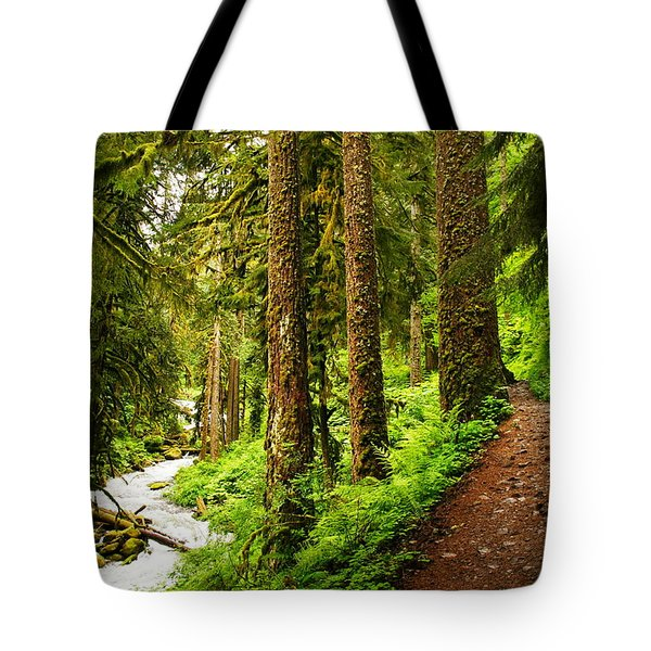 The Twisting Path Winding Through Paradise  Tote Bag by Jeff  Swan