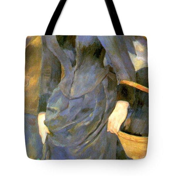 The Umbrellas Details Tote Bag by Pierre Auguste Renoir