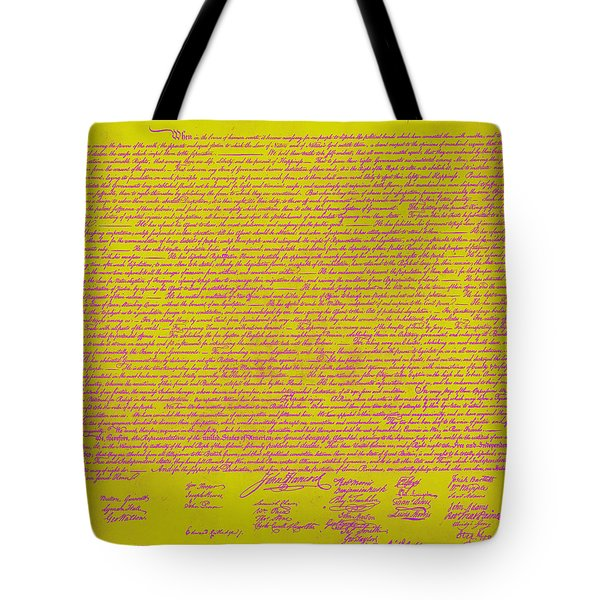 The United States Declaration of Independence 20130215m68 Tote Bag by Wingsdomain Art and Photography
