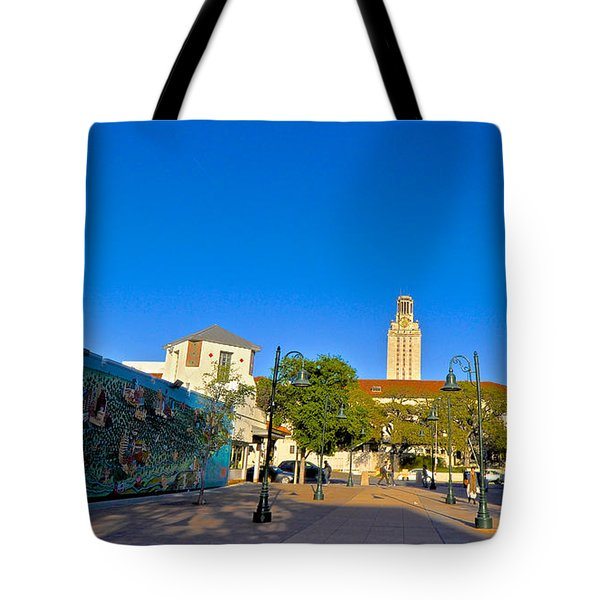The University Of Texas Tower Tote Bag by Kristina Deane
