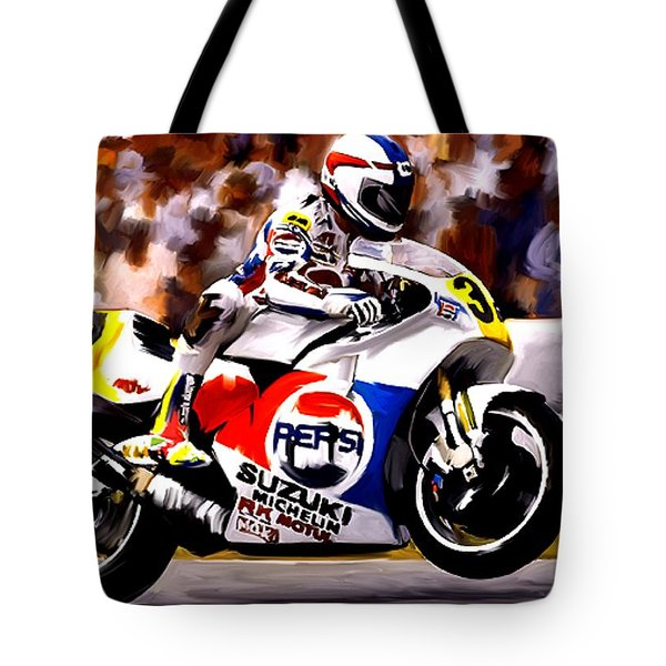 The Unleashing   Kevin Schwantz Tote Bag by Iconic Images Art Gallery David Pucciarelli