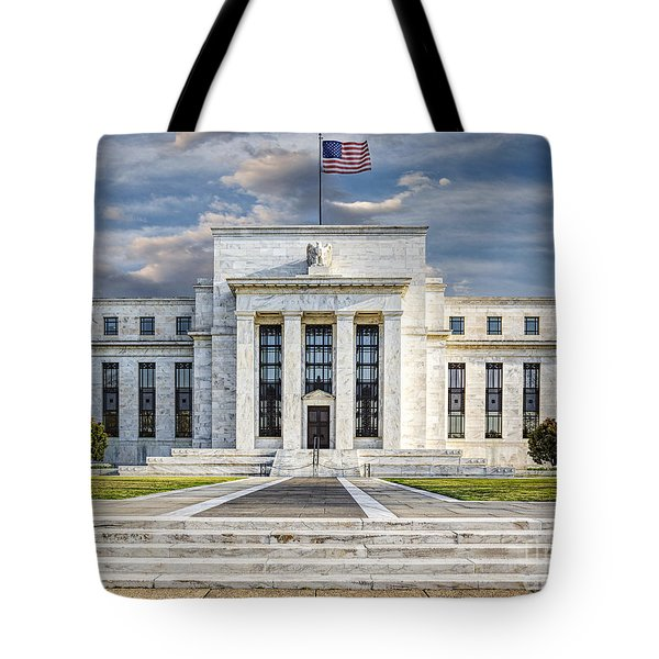 The US Federal Reserve Board Building Tote Bag by Susan Candelario
