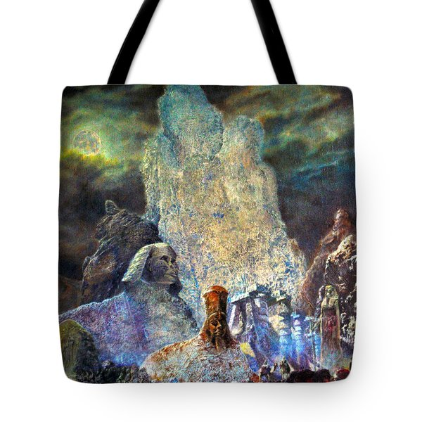 The Valley Of Sphinks Tote Bag by Henryk Gorecki