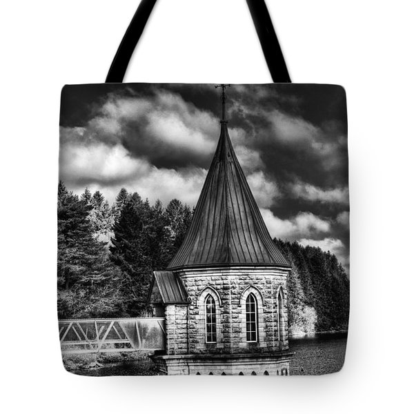 The Valve Tower Mono Tote Bag by Steve Purnell