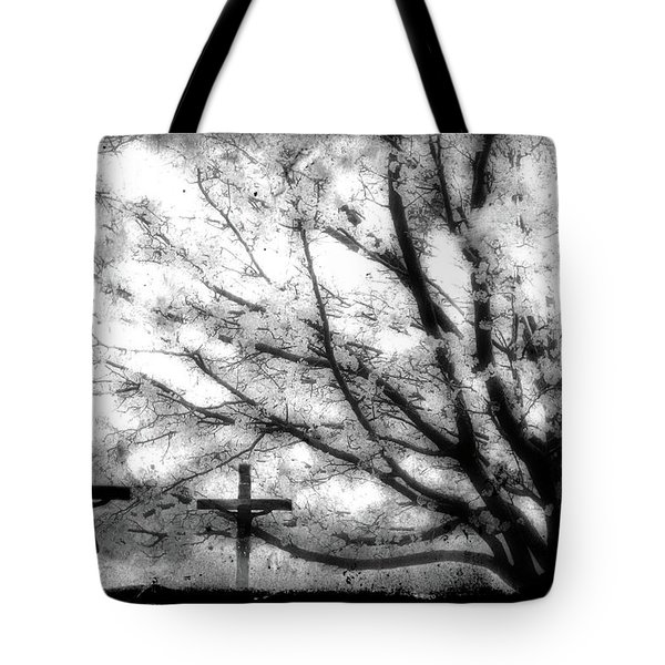 The Veil Was Torn Tote Bag by Gray  Artus