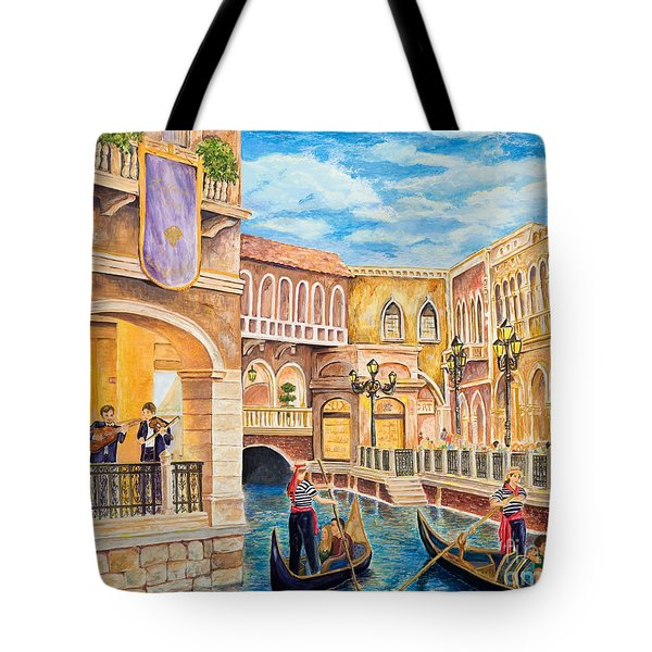 The Venetian Canal  Tote Bag by Vicki  Housel