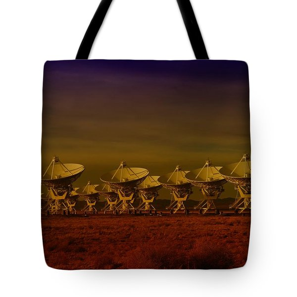 The Very Large Array In New Mexico Tote Bag by Jeff  Swan