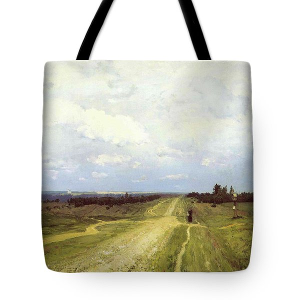 The Vladimirka Road Tote Bag by Isaak Ilyich Levitan