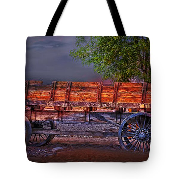 The Wagon Tote Bag by Gunter Nezhoda
