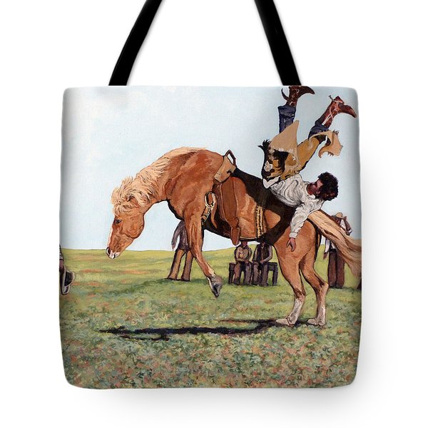 The Waiting Line Tote Bag by Tom Roderick