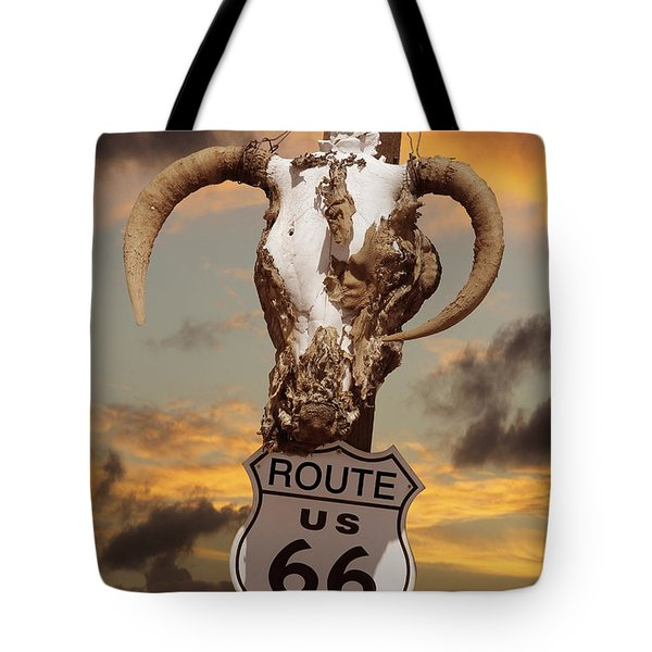 The Warmth Of Route 66 Tote Bag by Mike McGlothlen